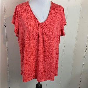 St Johns Bay 2X salmon color print tee shirt